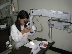 显微镜学习班上